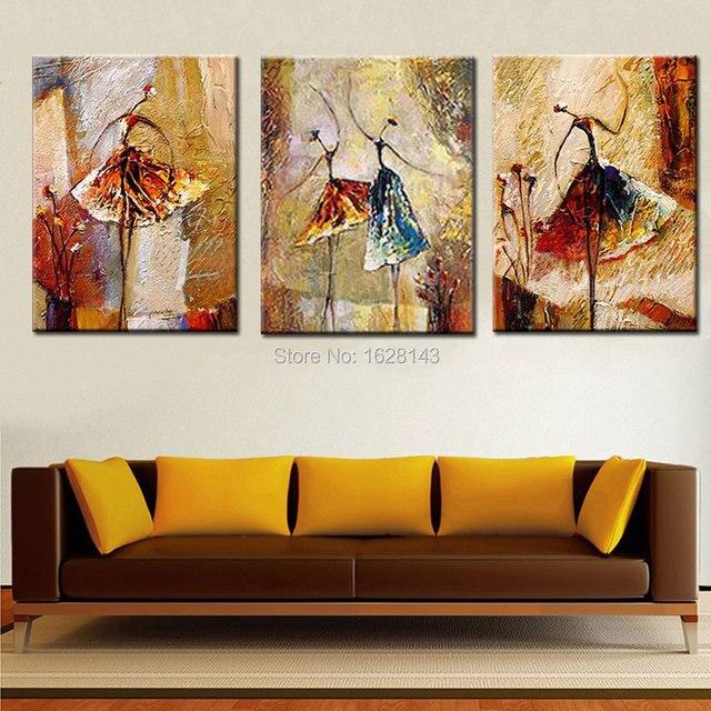 Ручная Роспись Абстрактной картины Живопись балерина картина маслом балета Стены Искусства без рамы Украшения Мода Аватар 3pn5