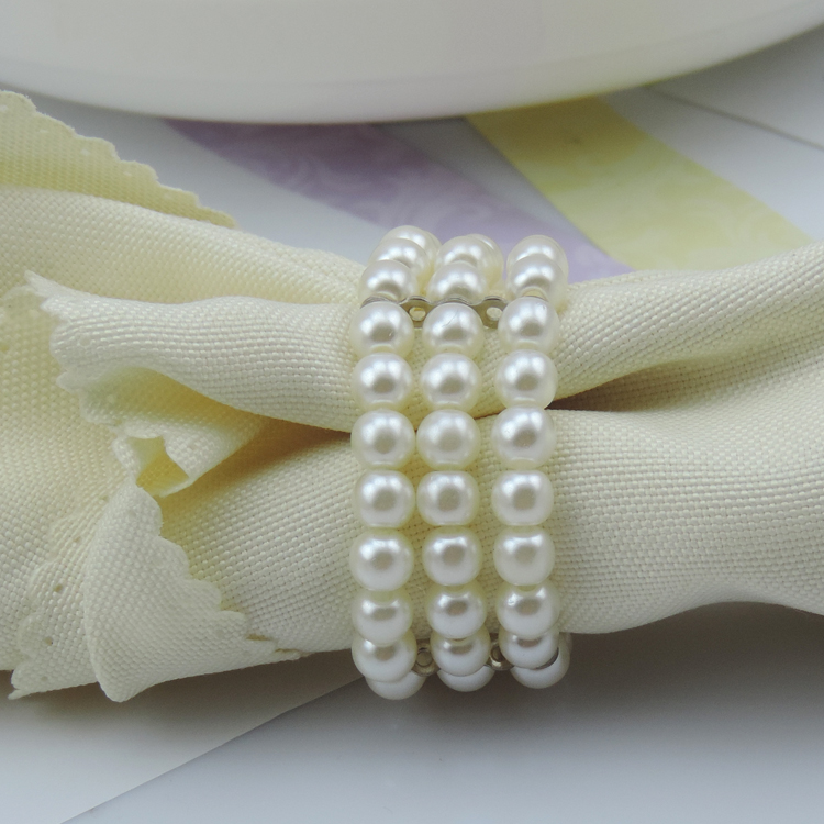 White Pearls Napkin Rings Hotel Party Table Decorations Supplies Luxury  Party Napkin Rings Wedding Accessories In Napkin Rings From Home U0026 Garden  On ...