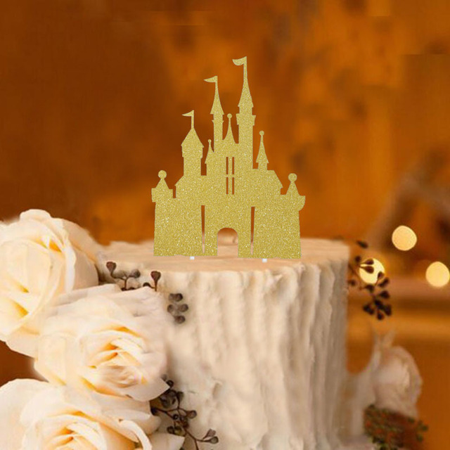 Tale Castle Shaped Birthday Cake Toppers Children Kids Dream Party ...