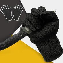 Cut Proof Gloves Abrasion Resistant Anti-Slash Level 5 Protective Work Safety Gloves Black