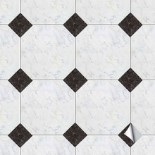 Funlife Self-Adhesive Diagonal Floor Tile Seam Stickers,Marble Retro DIY Sticker,Waterproof Sticker For Living Room