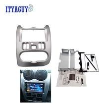 Высокое качество автомобилей Радио Фризовая для RENAULT Logan Sandero DACIA duster Переходная рамка приборную панель адаптер CD отделка рамка переходная