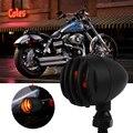 2 Шт. Мотоцикл Включите Сигнальные Огни Индикатор Мини Пули Blinkers Огни Для Harley Chopper Bobber Honda Желтый/Красный