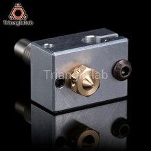 Trianglelab High quality 3D Printer Heater Block for Sensor Cartridges + Nozzle + heat break for 3D printer For E3D HOTEND I3 UM