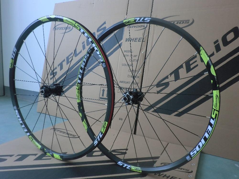 STELIOS Mountain bike wheel aluminum alloy wheel disc brake wheel 26inch / 27.5INCH WHEEL 24 hole spoke wheel