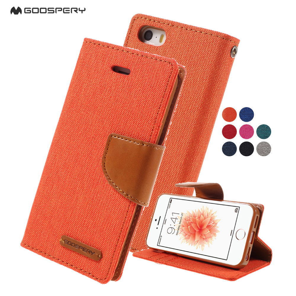 Goospery For Iphone 5 5s Se Phone Case Canvas Diary Flip Leather Samsung Galaxy S6 Stand Cover Iphone5s Coque Capa Shell In Wallet Cases From Cellphones