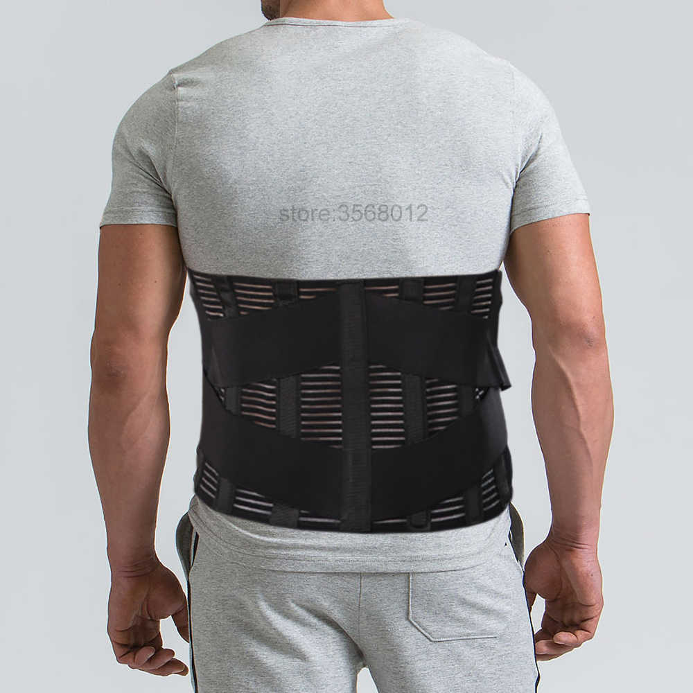 6a40899a78b Medical High Back Brace Waist Wide Bar Belt Spine Support Men Women Belts  Breathable Lumbar Corset