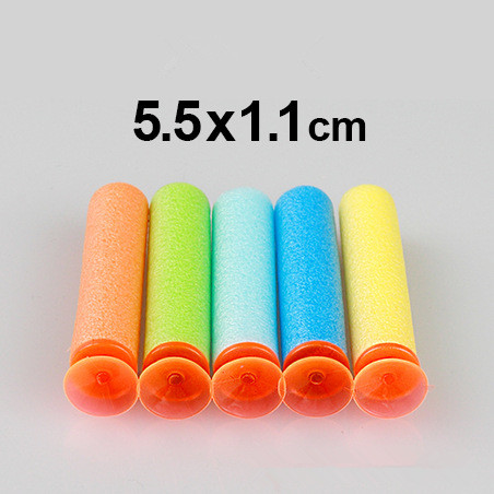 EFHH 10PCS Soft Bullet EVA Sucker Bullet 5 5cm 1 1cm For Star Hunter Gun Toy
