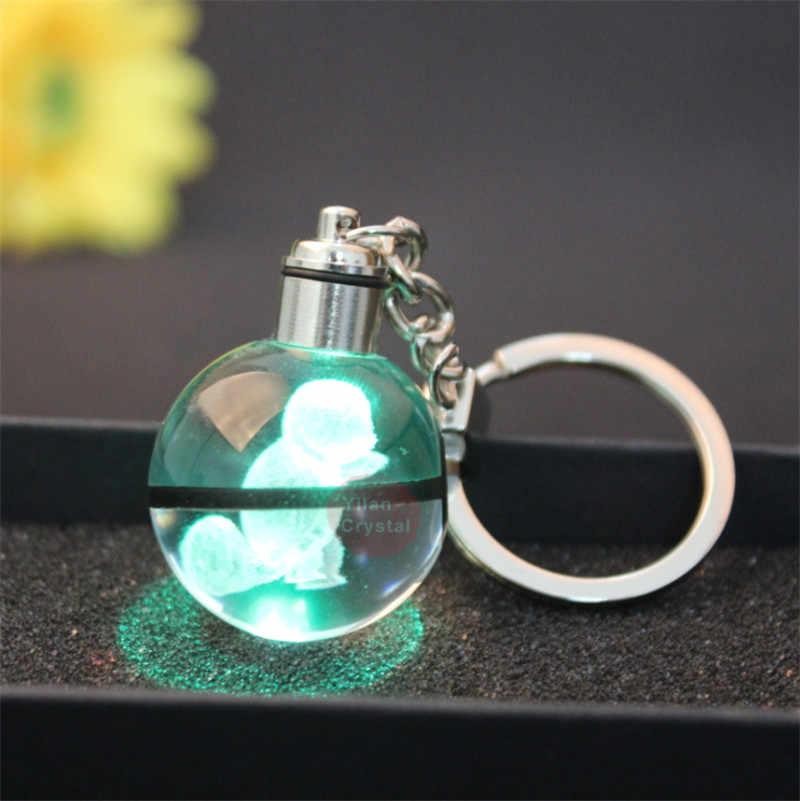 Покемон хрустальный шар Keychian 3D лазерный шар с покемоном Mew дизайн для подарка