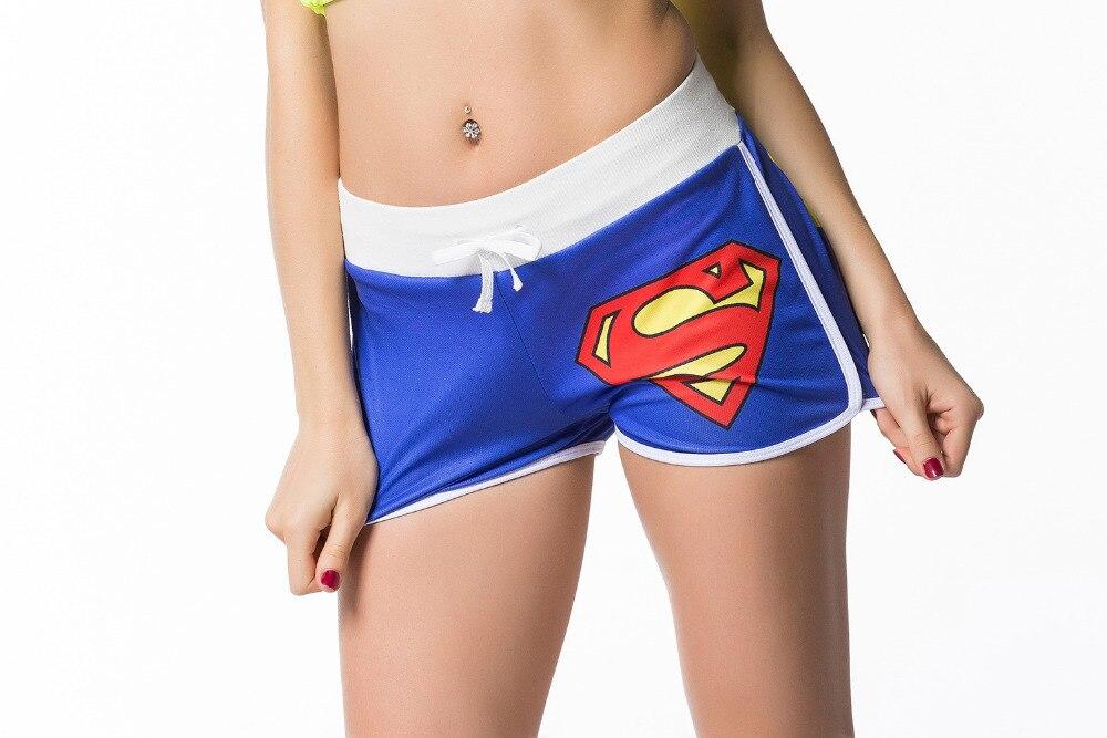 529562aea16e Weiblichen Batman Superman Wunder Frauen Shorts Elastische Taille Sport  Fitness Lauf Gym Bodybuilding Fitness Shorts in Weiblichen  Batman Superman Wunder ...