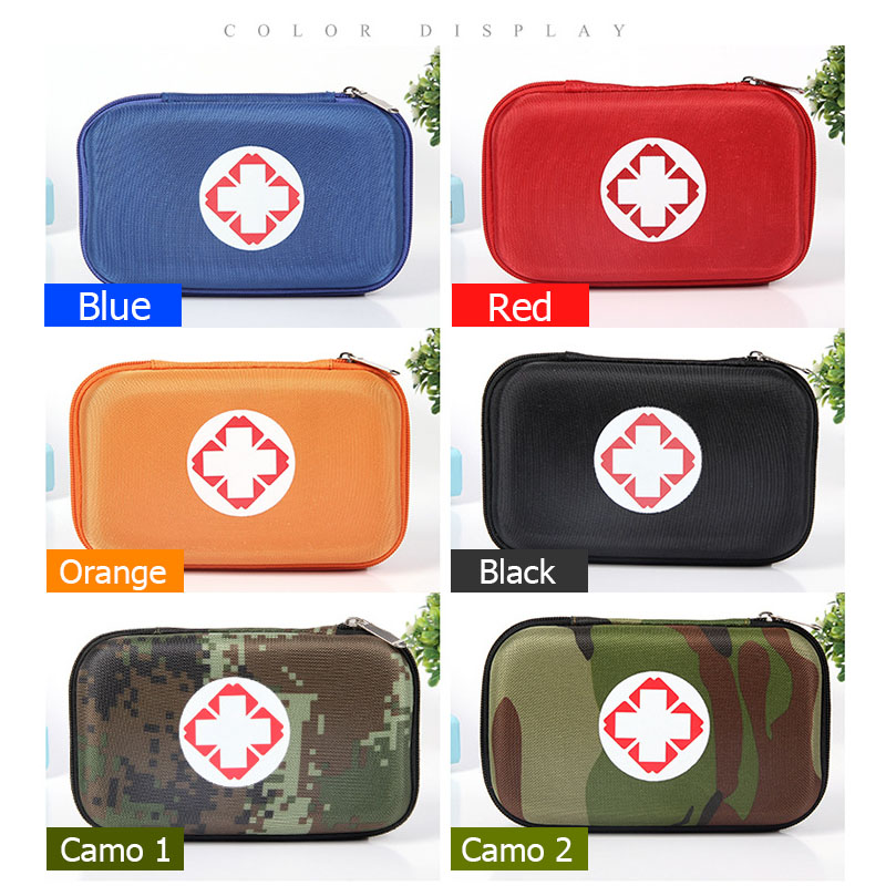 SENNO First Aid Kit Nylon Drug Portable Bag Outdoor Waterproof Travel Medical Treatment Security Emergency Kits Size 21*13*6cm