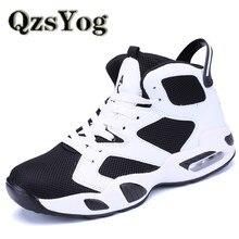 innovative design e1e04 b0dbc QzsYog Ademend Basketbalschoenen Mannen Vrouwen Hoge Air Sport Kussen  Sneakers Mesh Trainers Mand Femme Zapatillas Rood