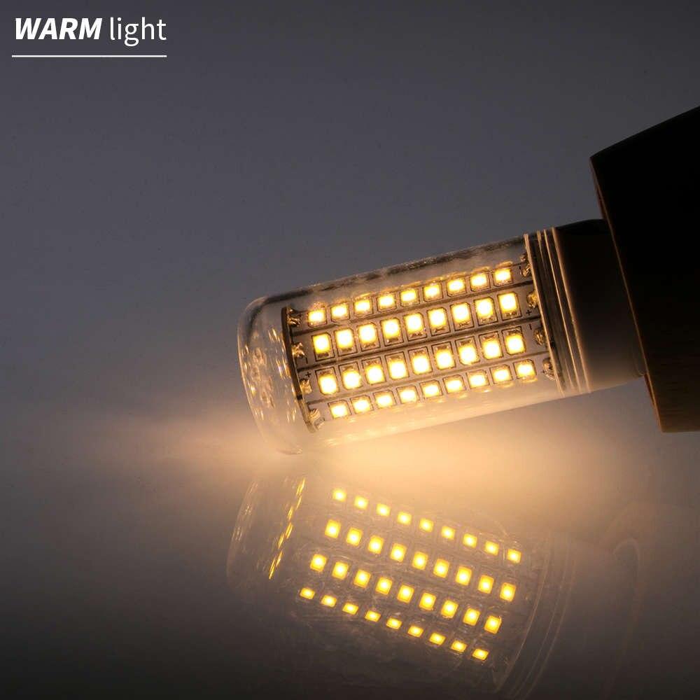 E27 Светодиодная лампа-кукуруза E14 светодиодный лампы в форме свечи лампы GU10 2835 SMD 5730 30 36 48 56 69 89 102 светодиодный s светильник Лампа 15 Вт, 20 Вт, 25 Вт 30 Вт 35 Вт Домашний Светильник ing 220V - Испускаемый цвет: Warm White