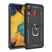 TPU+PC 360° Rotating Sergeant Shatter Resistant Bracket Armor Case For Samsung Galaxy A30 Shock Absorption