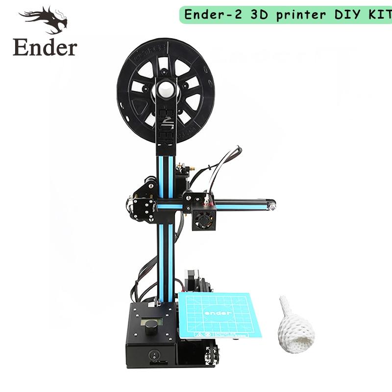 Ender-2 3D printer DIY Kit Reprap prusa i3 Mini printer 3D machine with Filament 8G SD card Hotbed tools as a gift 2016 3d printer diy kit reprap prusa i3 3d printer lcd menu support multi language with 0 5kg filament 8g card free shipping