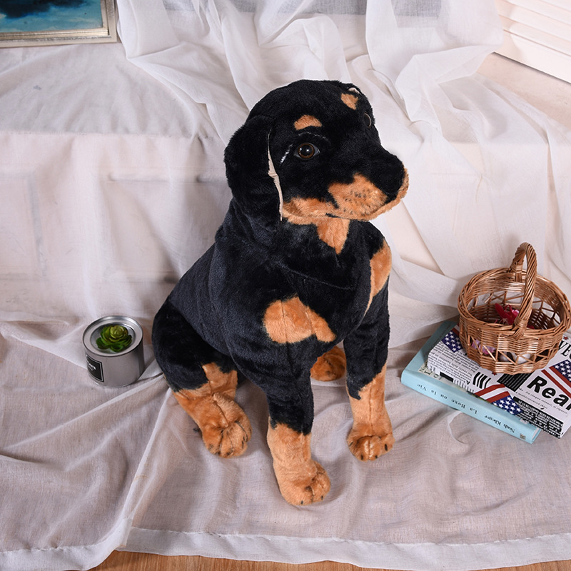 large 80cm simulation Rottweiler dog plush toy soft doll hug pillow Christmas gift w1004 2018 spring autumn children clothing set boys and girls sports suit 3 12 years kids tracksuit baby girls & baby boys clothes set