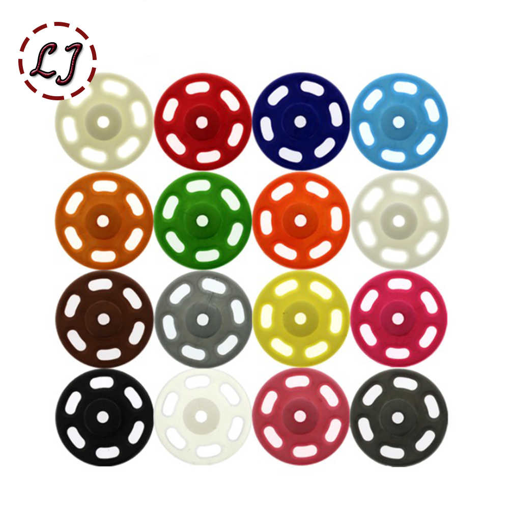 20sets/lot 7mm/10mm/13mm/15mm/18mm nylon Small Invisible Snap Fasteners Press Button Stud sewing accessories kids snap DIY