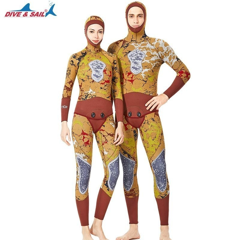 3MM Neoprene Wetsuit Women Mens Two-Piece Hooded Warm Scuba Swimsuit Couple Swimming Snorkeling Surfing Camouflage Diving Suit3MM Neoprene Wetsuit Women Mens Two-Piece Hooded Warm Scuba Swimsuit Couple Swimming Snorkeling Surfing Camouflage Diving Suit