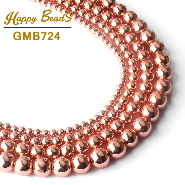 AAA Natural Stone Beads Rose Gold Hematite Beads For Jewelry Making