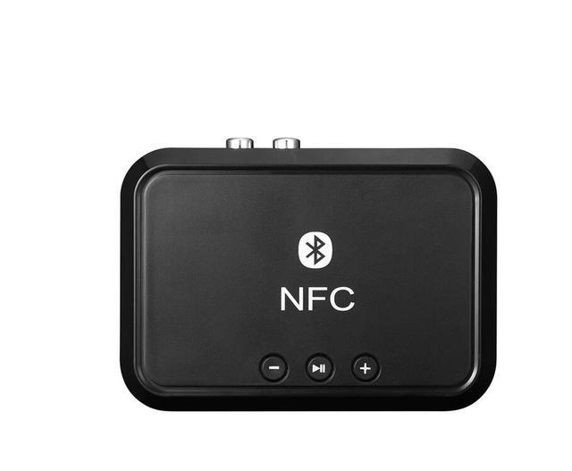 Nfc Draadloze Bluetooth 4.1 Audio ontvanger Draagbare Bluetooth Adapter Nfc Enabled 3.5Mm Rca Stereo Muziek Geluid Tv Auto speaker