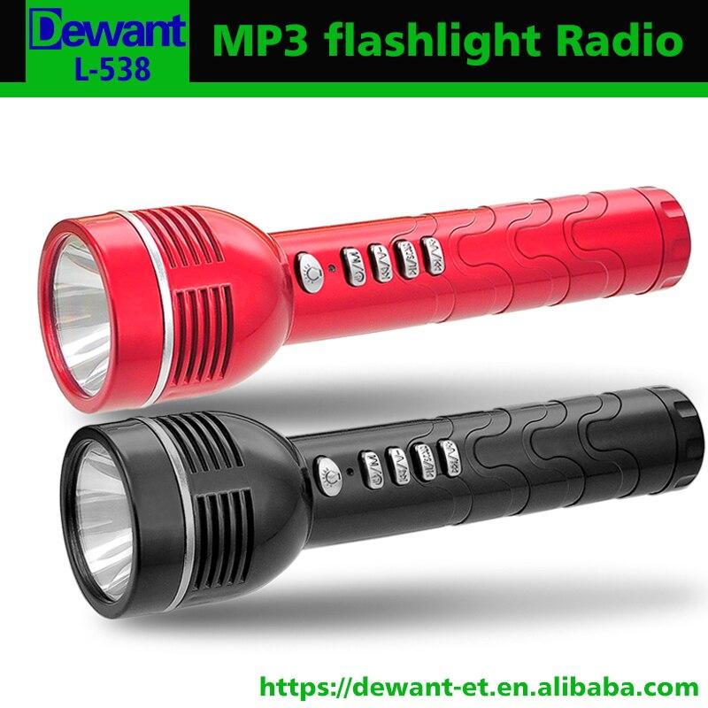 Unterhaltungselektronik 10 Stücke L-538 Mit 3,7 V Wiederaufladbare 18650 Batterie Tragbare Mini Led Taschenlampe Mit Mp3-player Auto Scan Fm Radio Radio