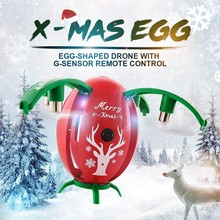 Jjrc H66 Christmas Drone With Camera Mini Selfie Drone Gravity Sensor Rc Helicopter Drones 720p X-mas Egg Toy For Kids Gift
