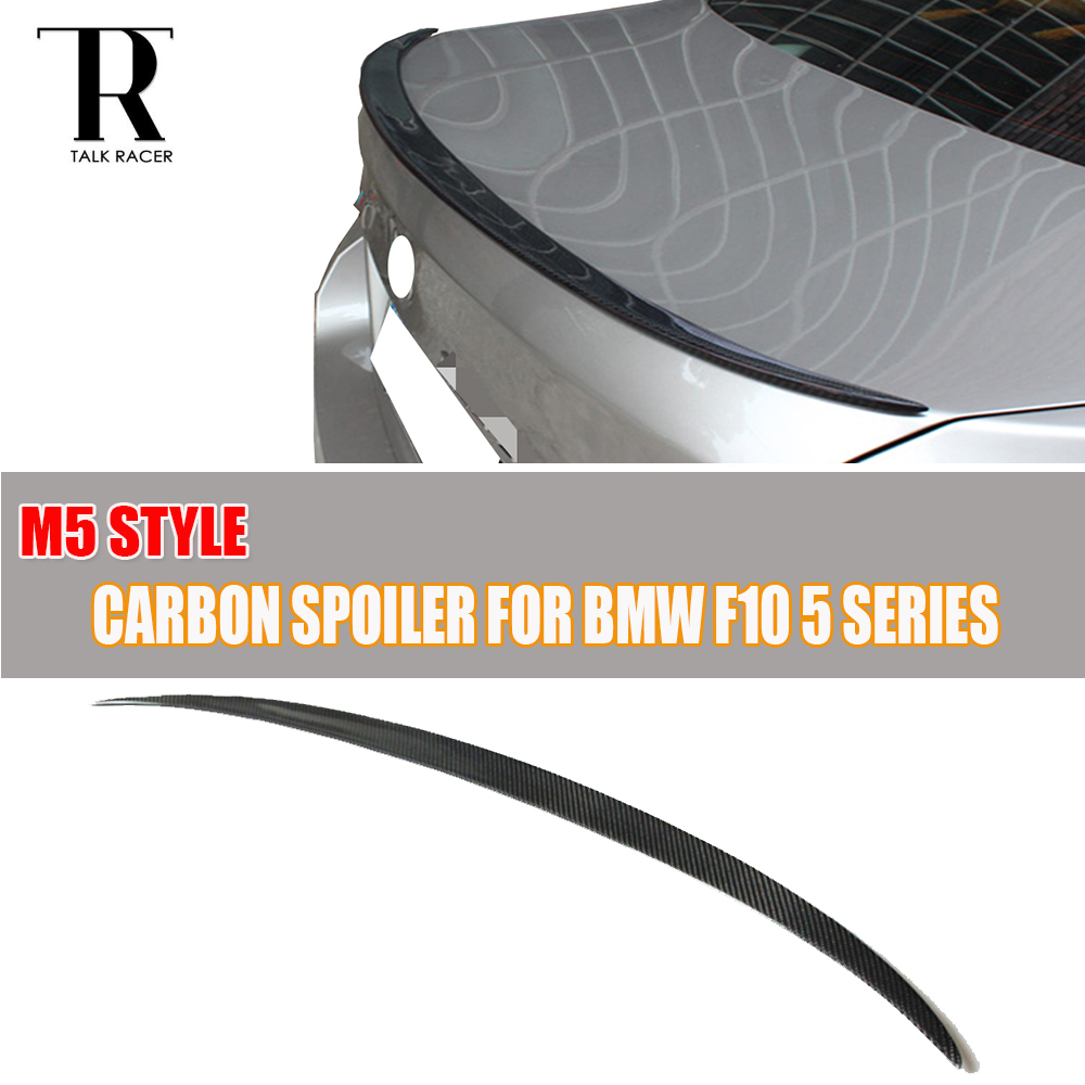 F10 M5 Carbon Fiber Rear Wing Spoiler for BMW F10 5 Series 520i 528i 535i 520d 525d 535d F10 M5 2010 - 2016 M5 Style replacement car styling carbon fiber abs rear side door mirror cover for bmw 5 series f10 gt f07 lci 2014 523i 528i 535i