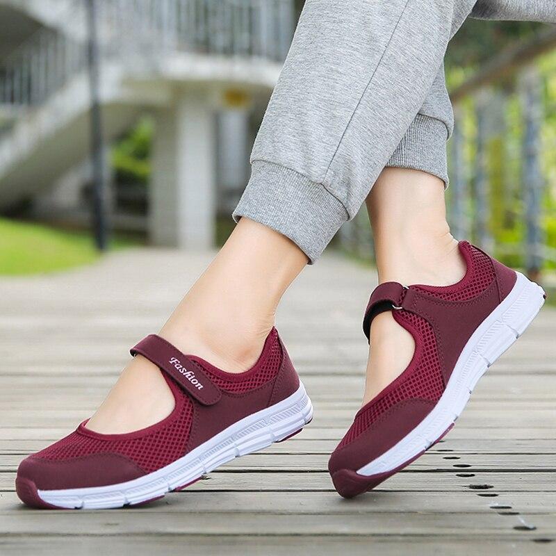 Buty damskie oddychające siatkowe buty wulkanizowane na lato