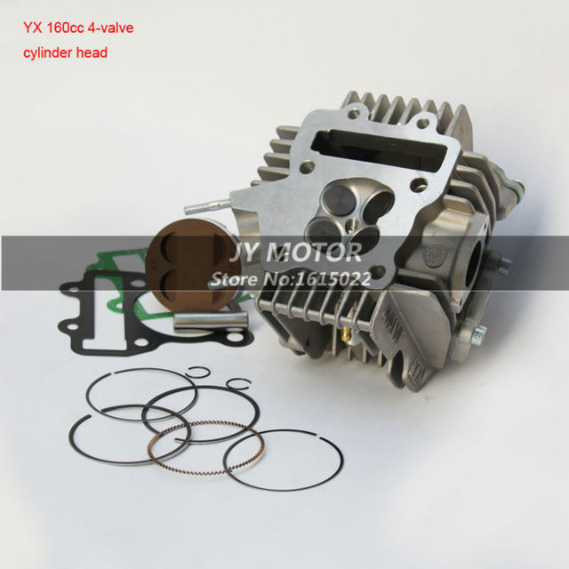 YX160cc 4 Valves Engine Cylinder Head Kit with piston ring set motorcycle Parts For Chinese GPX YX160cc Dirt Pit Bike Motocross