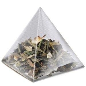 1000Pcs5. 5X7 см Пирамида чайный пакетик фильтр нейлоновый чайный пакетик однострунная этикетка Прозрачный Пустой чайный пакетик