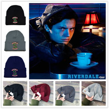 Hot Topic Adult Riverdale Cosplay Women Men Archie Betty Veronica Hats Beanie Cap Winter Knitted Cap Embroidery Hat(China)