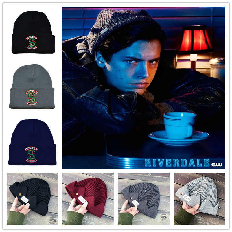 Hot Topic Adult Riverdale Cosplay Women Men Archie Betty Veronica Hats Beanie Cap Winter Knitted Cap Embroidery Hat