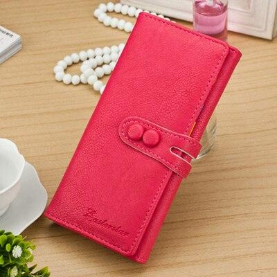 New Arrival Women Wallets Soft PU Leather Hasp Lady Purses Cards Holder Money Bags Coin Purse Long Woman Wallet Handbags Burse