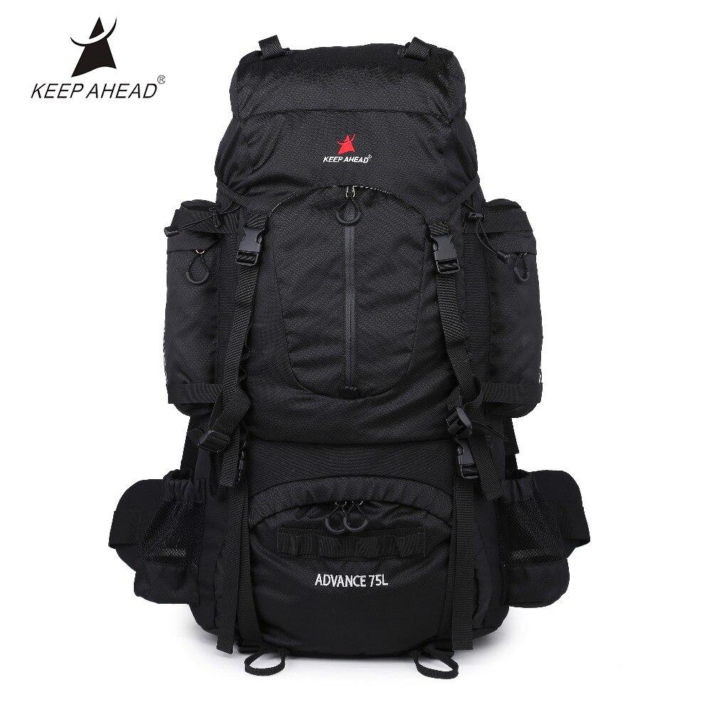 Sacs à dos de Camping de grande capacité de 75L sacs extérieurs de bonne Ventilation avec la résistance à l'usure et le cadre interne de confort Softback