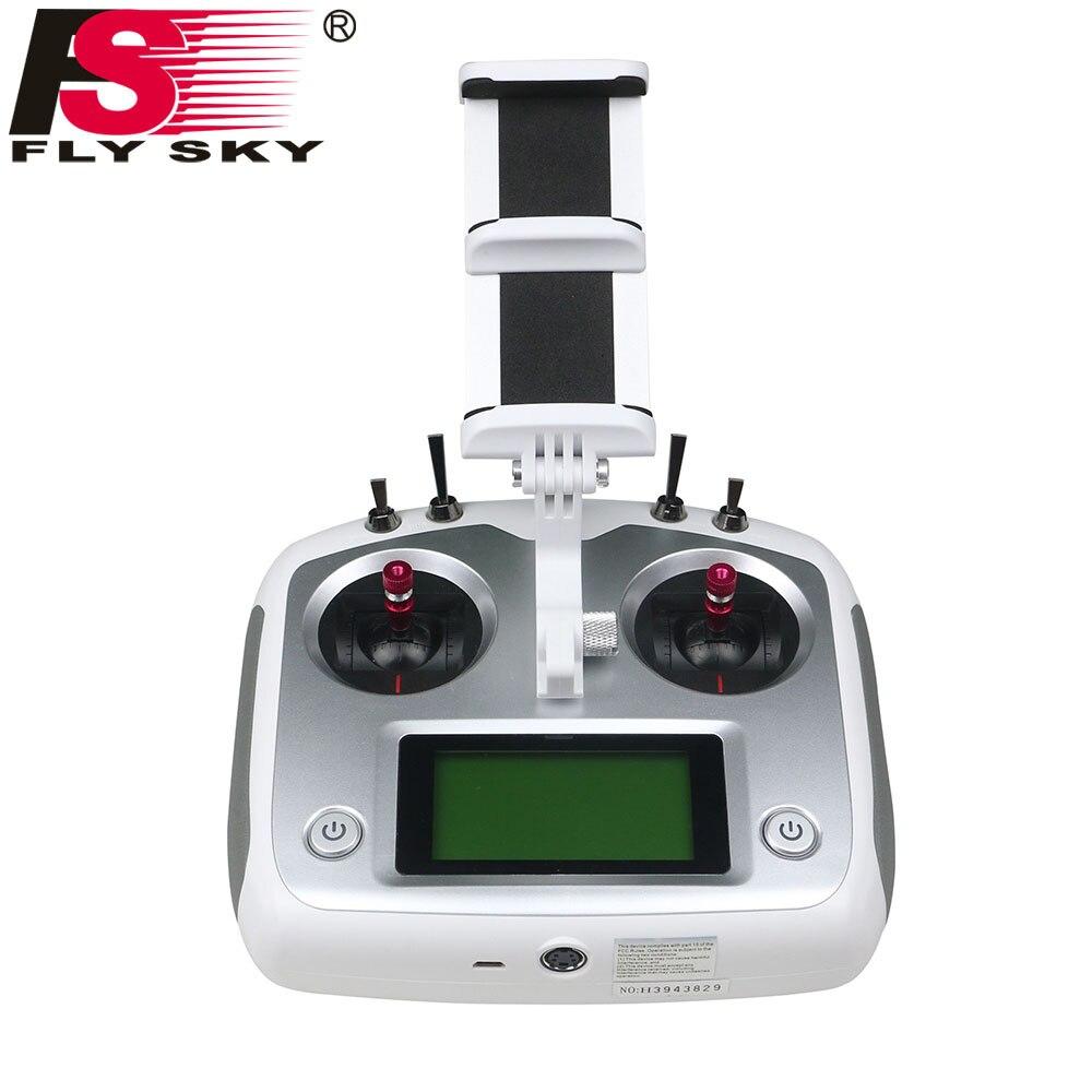 Oyuncaklar ve Hobi Ürünleri'ten Parçalar ve Aksesuarlar'de FlySky FS I6S FS I6S RC Verici 2.4G 6ch radyo verici + iA6B/iA10B RC Alıcı Için Tutucu ile RC dört pervaneli helikopter drone'da  Grup 1