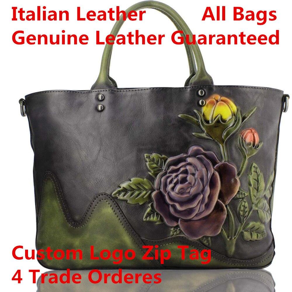 Großhandel Leather Individuelles Leder Italienischen Echtem Tasche Wilden 1 Schulter Geschlungen Mode real Mobile Walle Logo Handtasche Dropshipping Retro wxxRtnra
