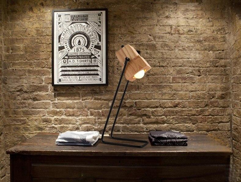 Nieuwe roman houten tafellamp moderne industriële lamp tafellamp