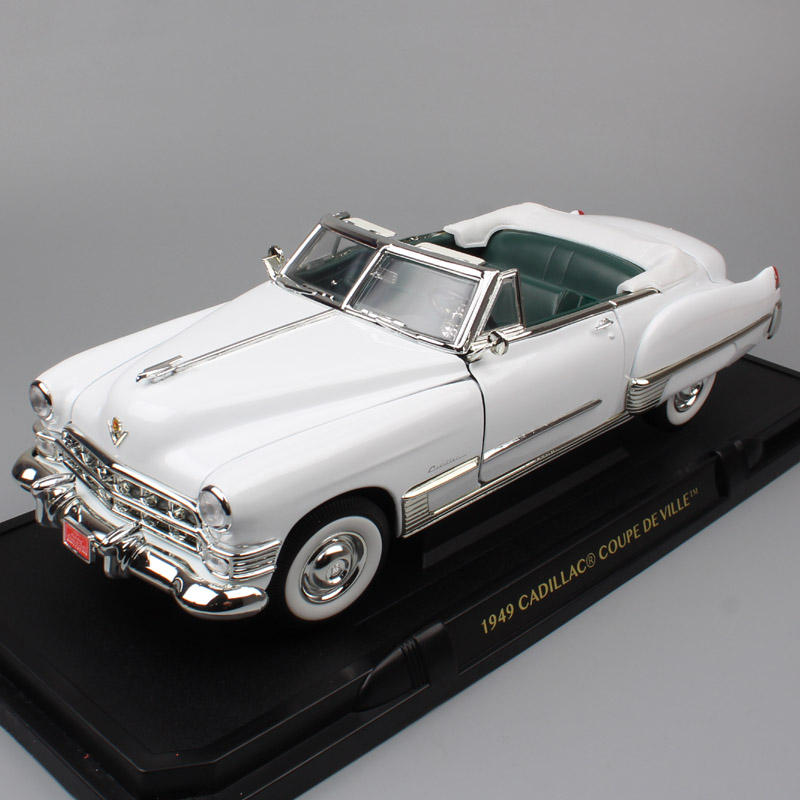 1:18 scale Road Signature 1949 CADILLAC DEVILLE luxury coupe cars big Diecast toys Vehicles Replicas car modeling for collection