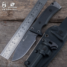 HX OUTDOORS Locke's survival knife sheath D2 steel K saber outdoor straight knife survival knife stone wash the surface