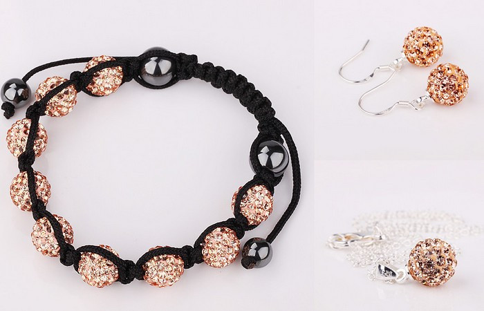 Large Discount Jewelry!Free Shipping!10mm 5Pcs/Lot Micro Pave Disco Ball crystal Set.Bracelets+Earring+Necklace JGF Hotsale.
