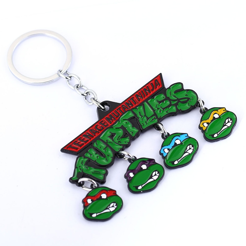Teenage Mutant Ninja Turtles Key Chain Men Key Rings For