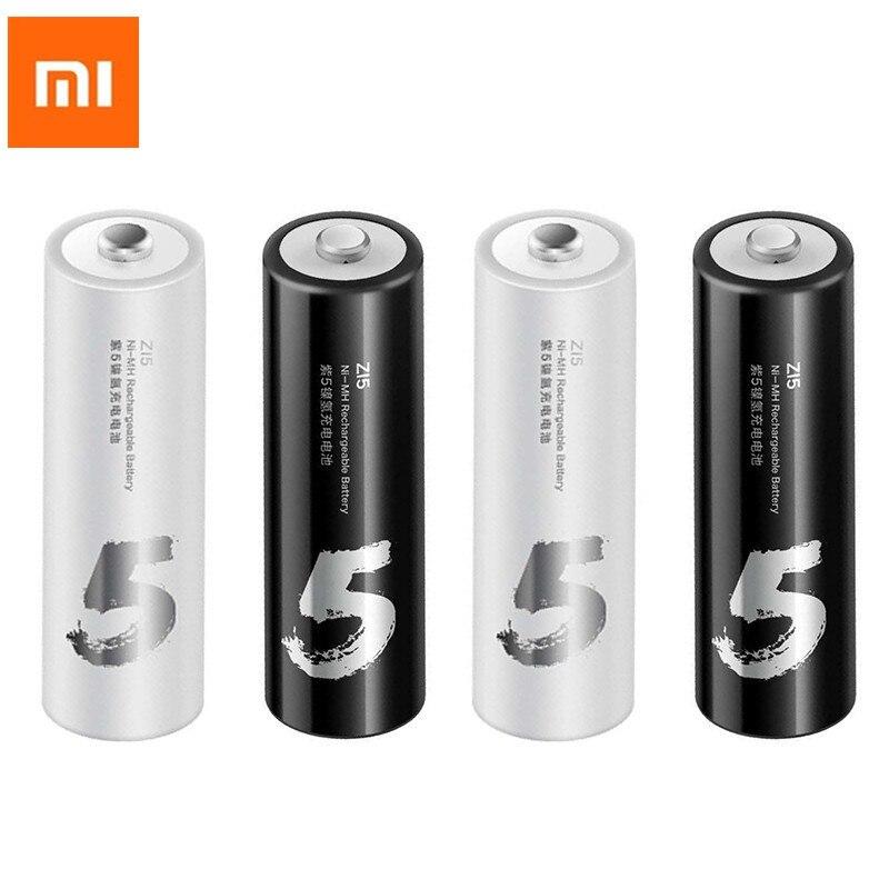 4PC/LOT Xiaomi ZMI ZI5 AA 1800mAh 1.2V Rechargeable Ni-MH Battery Xiaomi ZIM Power Bank Battery Pack