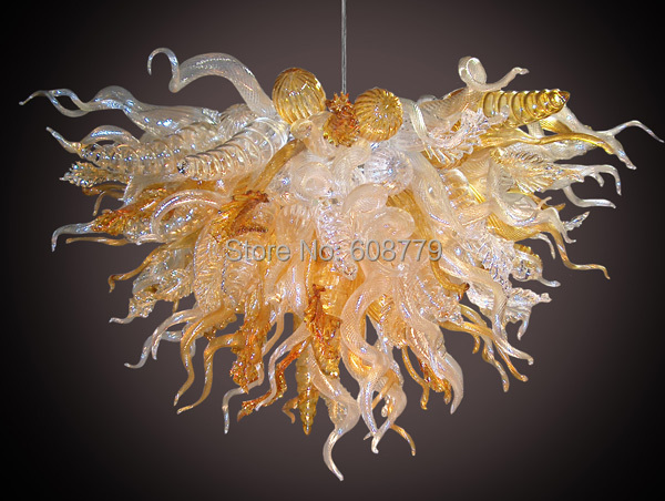 Free Shipping High Quality Modern Bubble Murano Glass Chandelier in Chandeliers from Lights Lighting