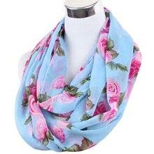 Бесплатная доставка женская любовник цветок розы шифоновый шарф шеврон бесконечности шарфы женщин платок пляжное полотенце женский продолговатые летом шарф