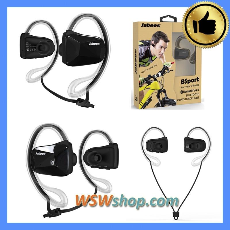 ФОТО 100% Genuine Original Jabees Bsport Wireless Bluetooth Headset Jabees Sports Ear-Hook In Ear Headphone Earbuds Bluetooth V4.1