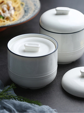 Birds Nest Stew Cup Waterproof Ceramic Double Covered Small Inner Bile with Cover Soup Pure Creative White St