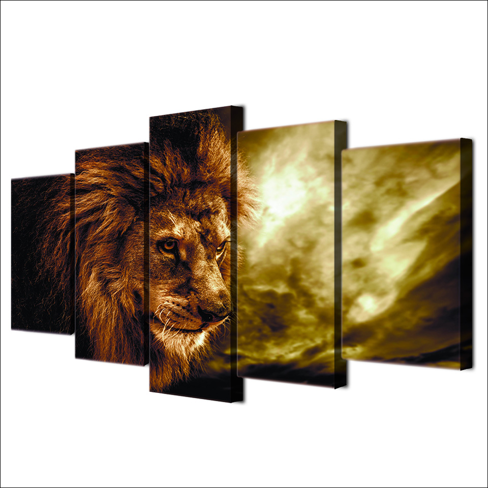 Modern Canvas Photo Style Modular Wall Art Pictures Home Decor 5 ...