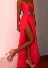 2016 mode Abnehmbare Prom Kleid Sexy Mantel Cocktail Party Kleid Schatz Ballkleider Homecoming Kleider Vestidos De Fiesta