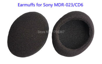Ear pads(earcups) replacement cover for Sony MDR-023 MDR-CD6 headphones(earmuffes/ headset cushion) High quality earcap ear pads replacement cover for denon dn hp1000 hp1000 headphones earmuffes headphone cushion