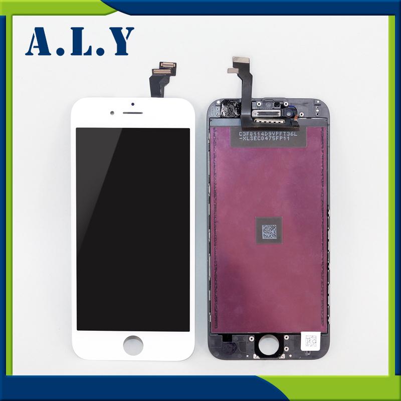 Prix pour 10 PCS/LOT Aucun Spot A + + + + pour iphone 6 lcd écran tactile Assemblée Complet avec Écran Lentille De Remplacement Pantalla Livraison DHL gratuite
